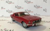 ford mustang 1968 fastback red by green light