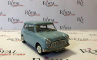 Morris Minor Mini Cooper Blue 50th Anniversary 1/18 Diecast