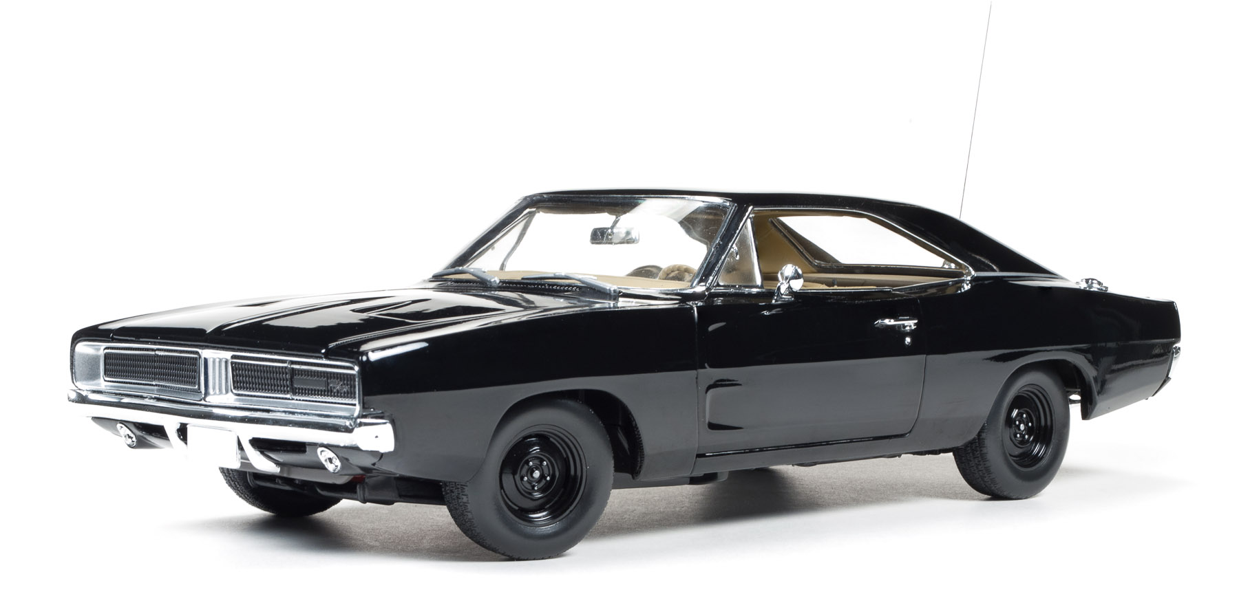 DODGE CHARGER 1969 BLACK AUTOWORLD (5)