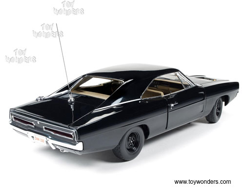 DODGE CHARGER 1969 BLACK AUTOWORLD (6)